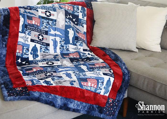Patriotic and Military-Themed Cuddle® Minky Plush Fabrics