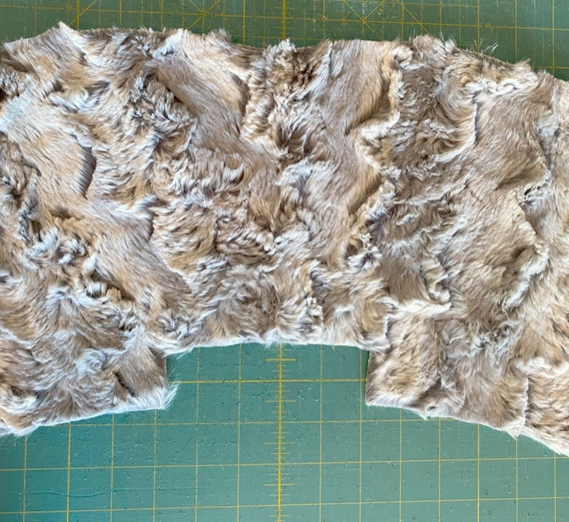 Call Ajaire Mackinaw Tips facing piece sewn and fluffed