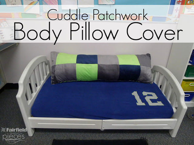 Body Pillow in Seahawks colors with Shannon Cuddle®