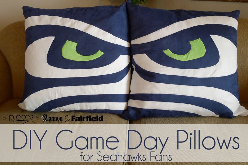 DIY Seahawks Football Pillows with Cuddle Suede