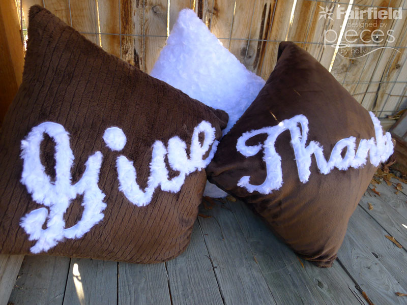 Giving Thanks - Cuddle Applique Pillows Sewing Tutorial
