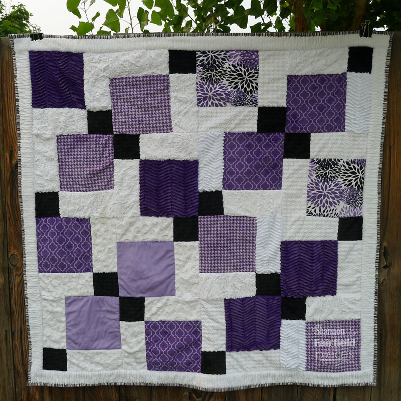 Disappearing Nine Patch Cuddle Quilt
