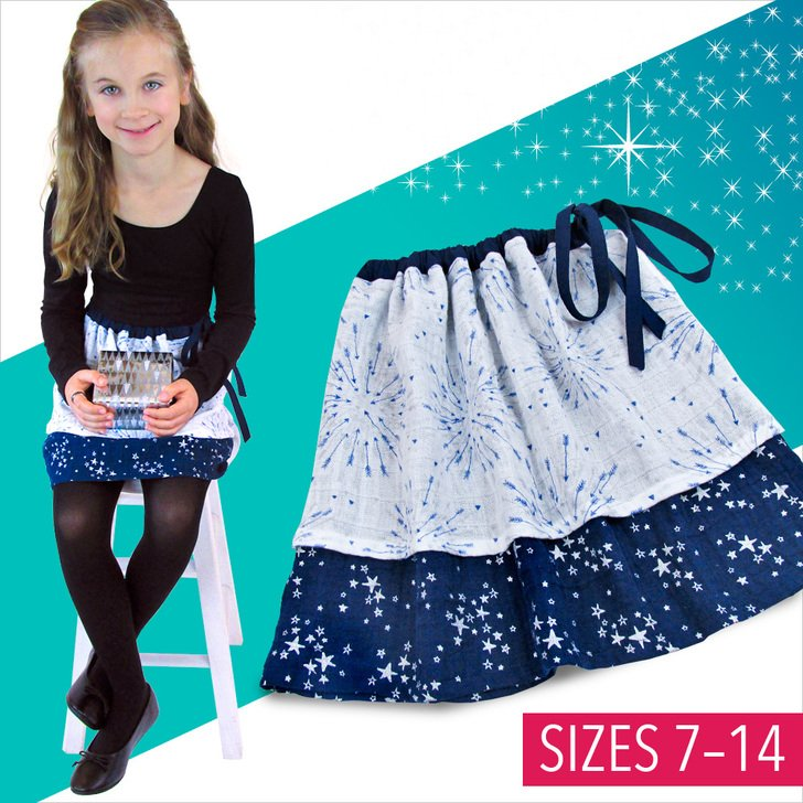 Girl's Embrace® Double Gauze Party Skirt