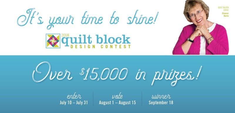 AccuQuilt Quilt Block Design Contest 2018 Banner-1