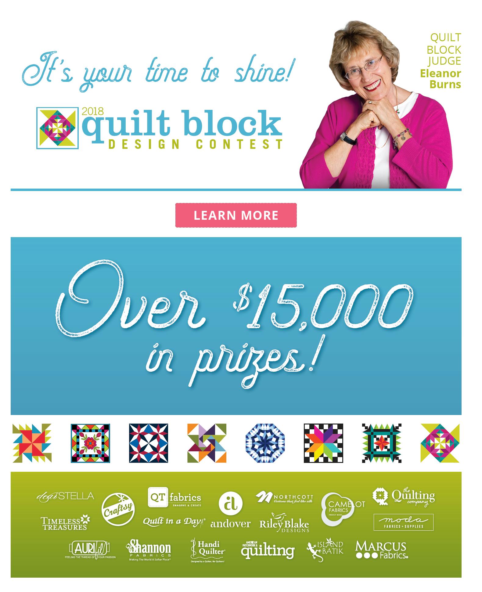 AccuQuilt Quilt Block Design Contest 2018 sponsors