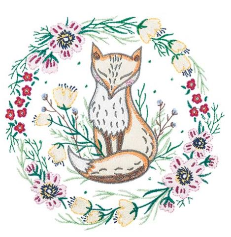 Anita Goodesign A Sunday Afternoon Embroidery Collection Fox