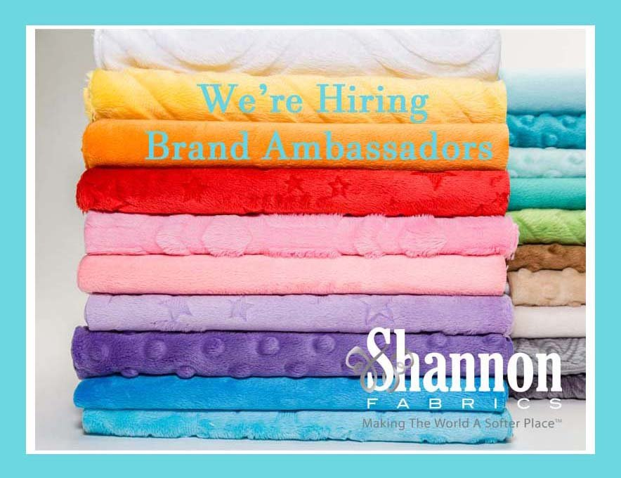 Shannon Fabrics is looking for Brand Ambassadors