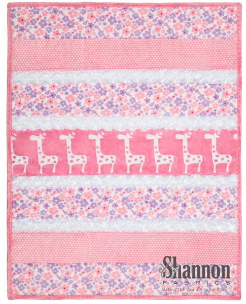 Bambino Cuddle Quilt kit Sugar and Spice