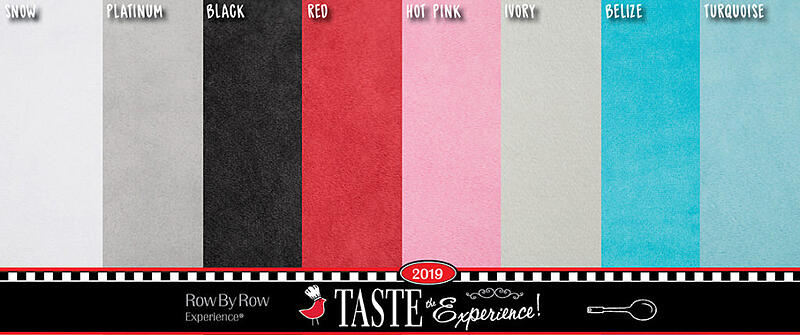 Shannon Fabrics Row By row Experience 2019 Cuddle Palette