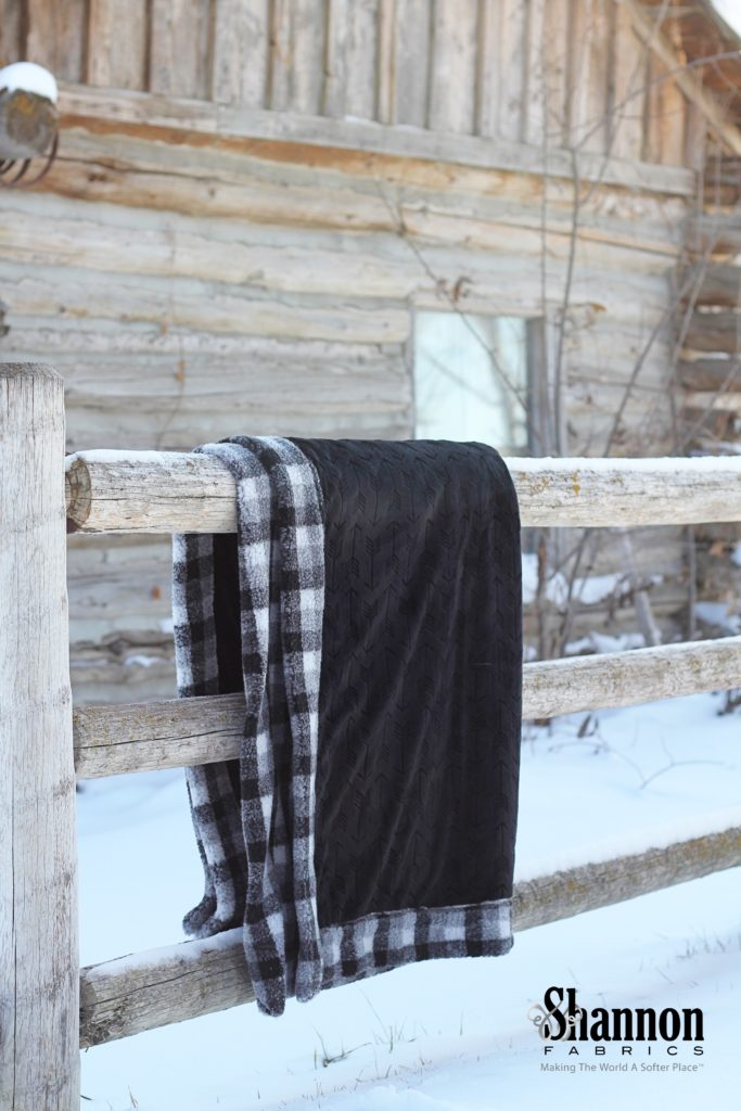 Mad for Plaid Berber Check Blanket in faux Sherpa fur! Easy to make!