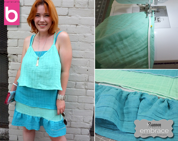 BurdaStyle Tiered Embrace double gauze dress sewing tutorial