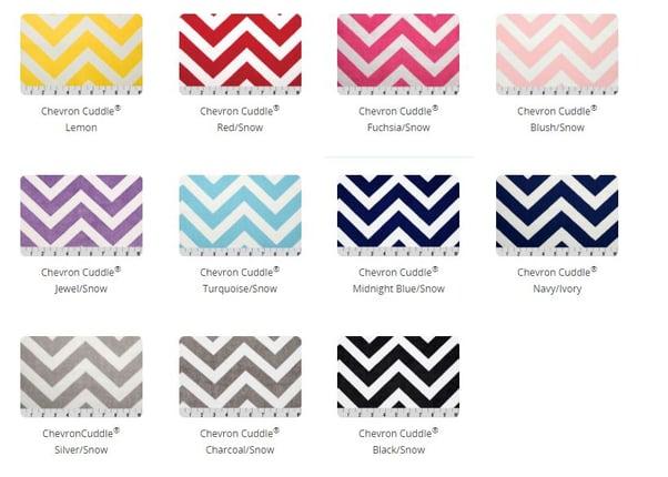 Shannon Fabrics Chevron Cuddle Colors