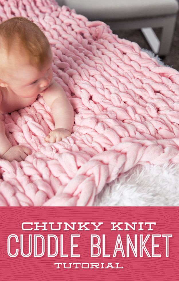 Chunky Knit Cuddle Blanket so soft and sweet