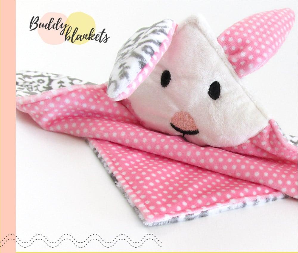Cuddle Animal Buddy Blanket Bunny