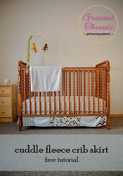 Cuddle Crib Skirt Tutorial Gracious Threads on Fleece Fun