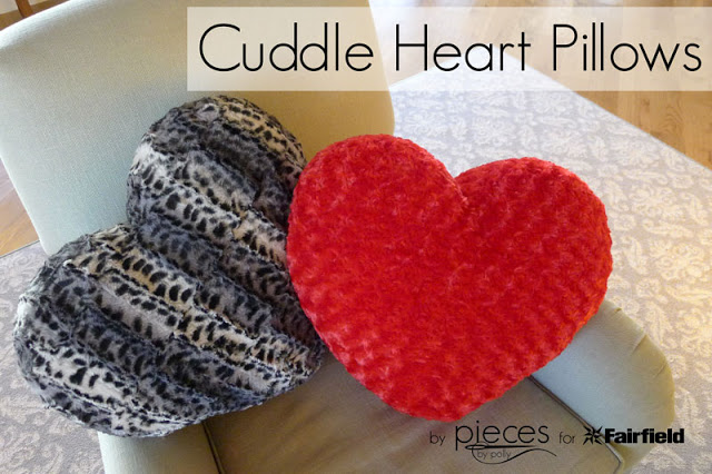 Cuddle Heart Pillows - Hugs, Hearts and Happy Valentine's Day from Shannon Fabrics