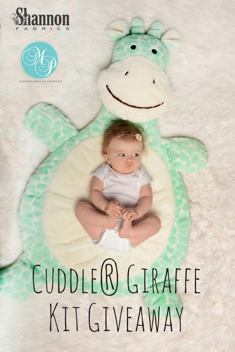 Enter to win in the Cuddle Giraffe Kit My Bubba Giveaway with Martha Pullen Co