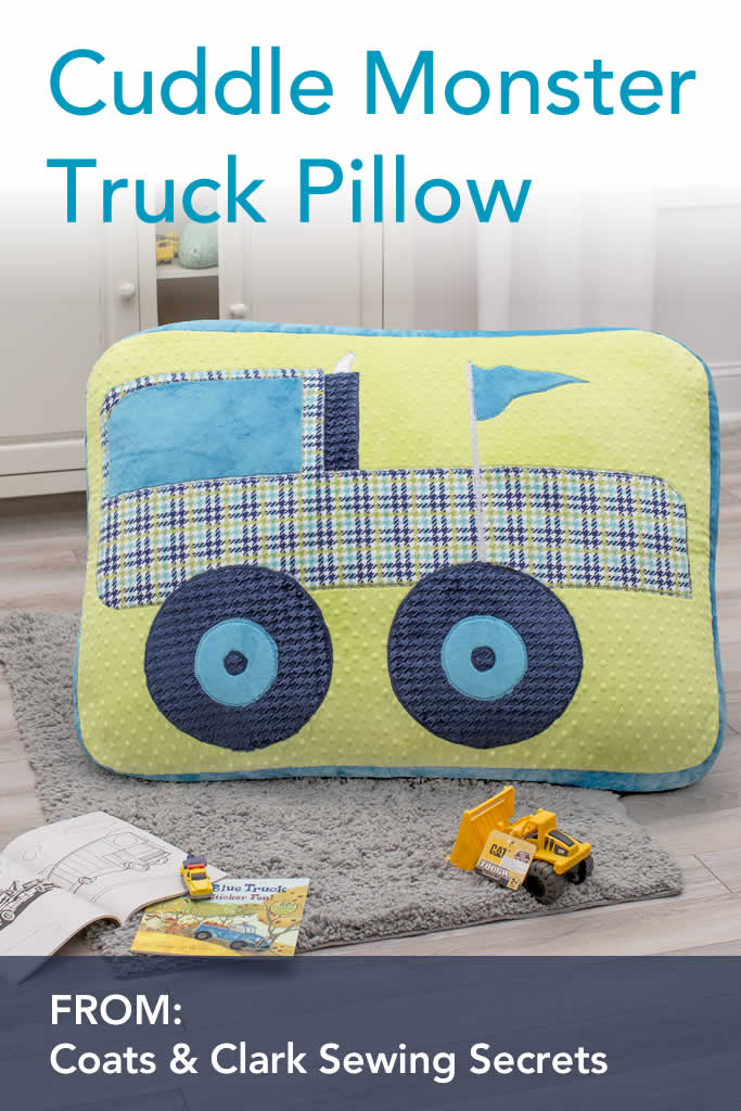 Cuddle Monster Truck Floor Pillow Sewing DIY Project