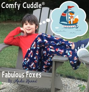 The story behind Andie Hanna and Fabulous Foxes fabric in Cuddle