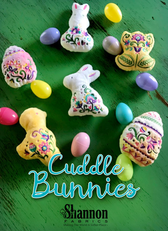 Fluffy Cuddle Bunnies and More! In the hoop Easter Stuffies DIY sewing and embroidery project