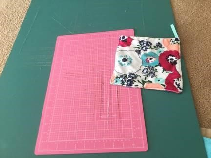 Cutting mat with Cuddle fabric