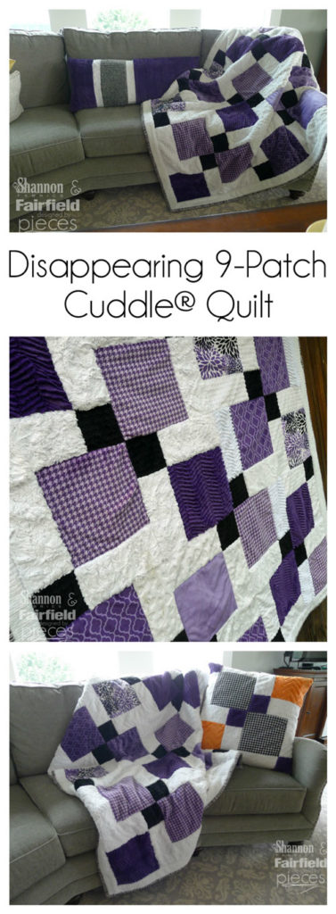 Disappearing Nine-Patch Cuddle Quilt - So easy you can finish in a day!