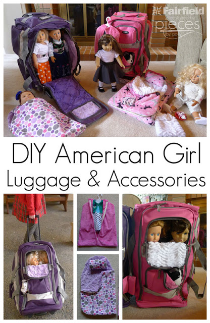 "Cuddle DIY 18"" Doll luggage and accessories sewing tutorial"