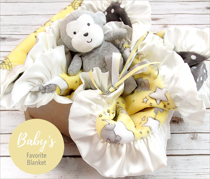 Dream Big Cuddle Baby Blanket Sewing Tutorial so cute with the ruffle for baby