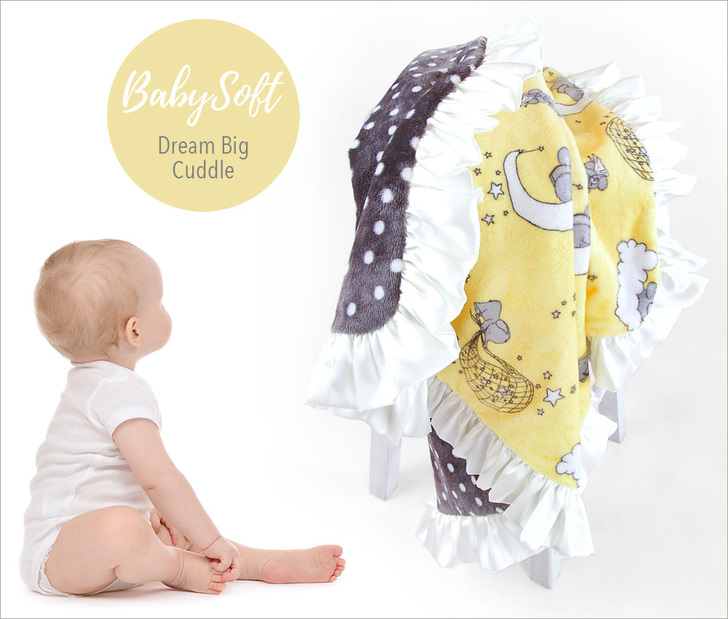 Dream Big Cuddle Baby Blanket Sewing Tutorial so cute