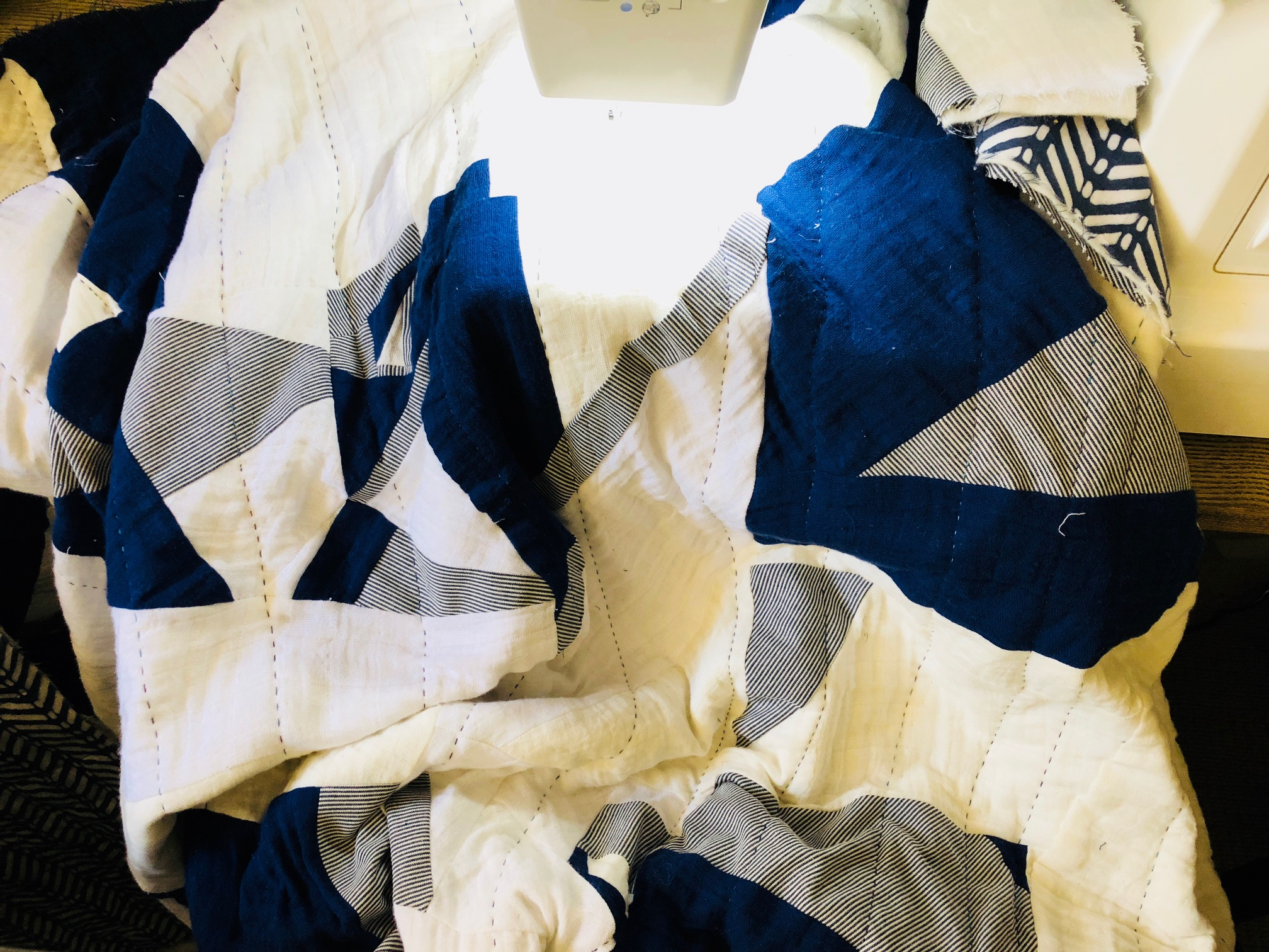 Embrace Double Gauze Improvisational Quilt by RaquelSews - in progress