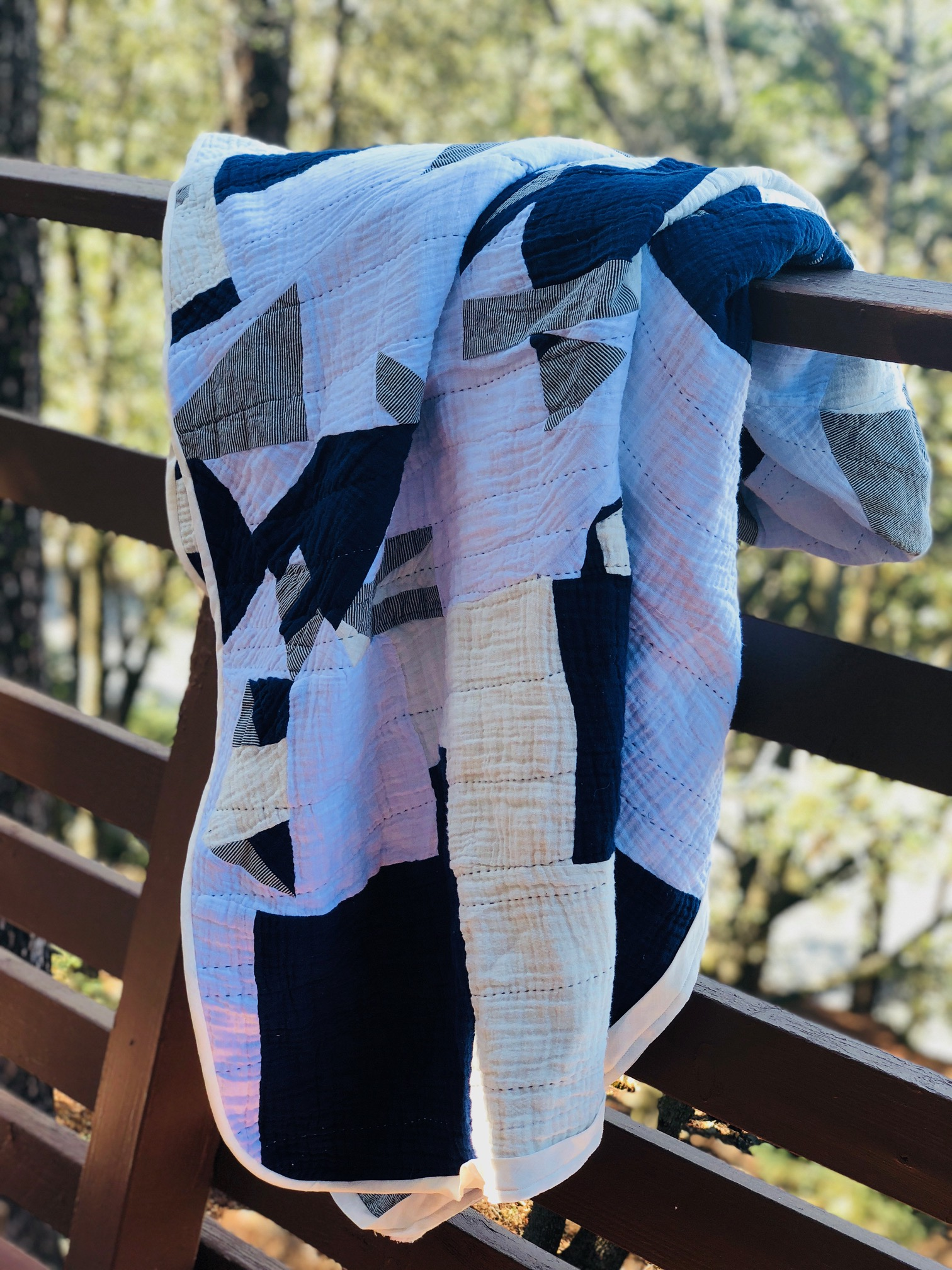 Embrace Double Gauze Improvisational Quilt by RaquelSews- oh so soft