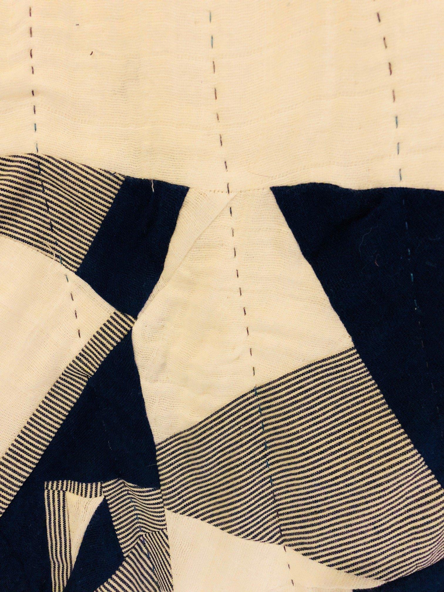 Embrace Double Gauze Improvisational Quilt by RaquelSews- sashiko