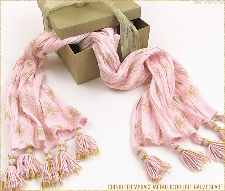 Embrace Double Gauze Metallic Crinkle Scarf makes a lovely gift