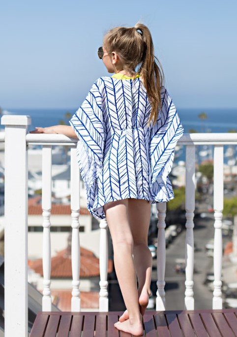 Embrace Double Gauze swim suit cover up for girls make one yourself - so easy