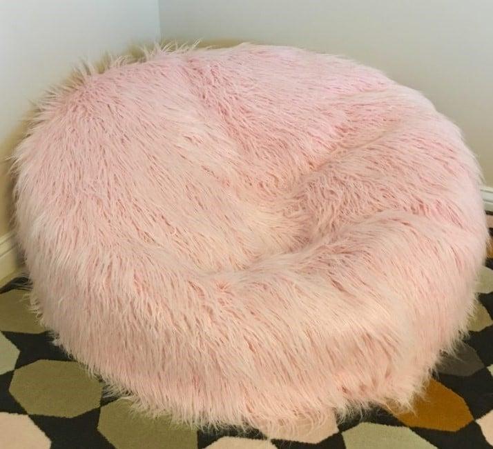 Faux Fur Bean Bag chair DIY