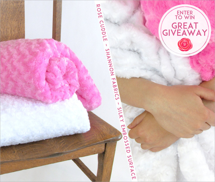 Great Giveaway Rose Cuddle with Sew4Home enter to win this silky plush fabric
