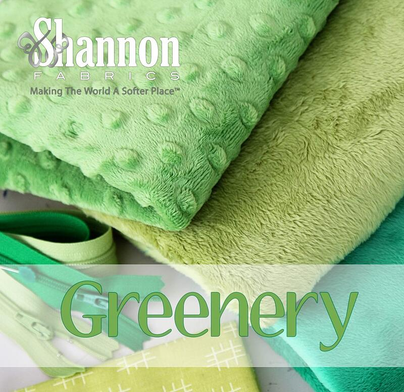 Greenery! The Pantone color of the year 2017 and Shannon Fabrics Cuddle in greens!