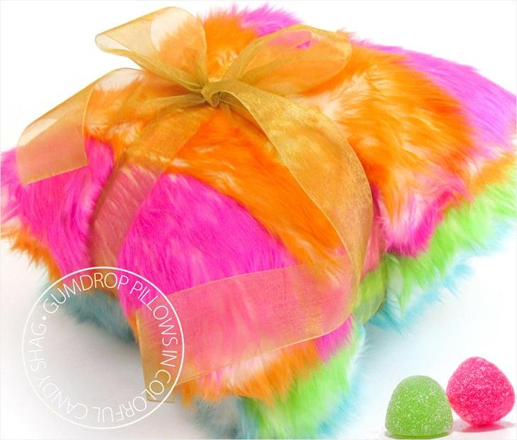 Gumdrop Candy Shag Faux Fur Pillows DIY by Sew4Home