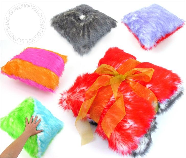 Gumdrop Candy Shag Faux Fur Pillows DIY by Sew4Home so soft