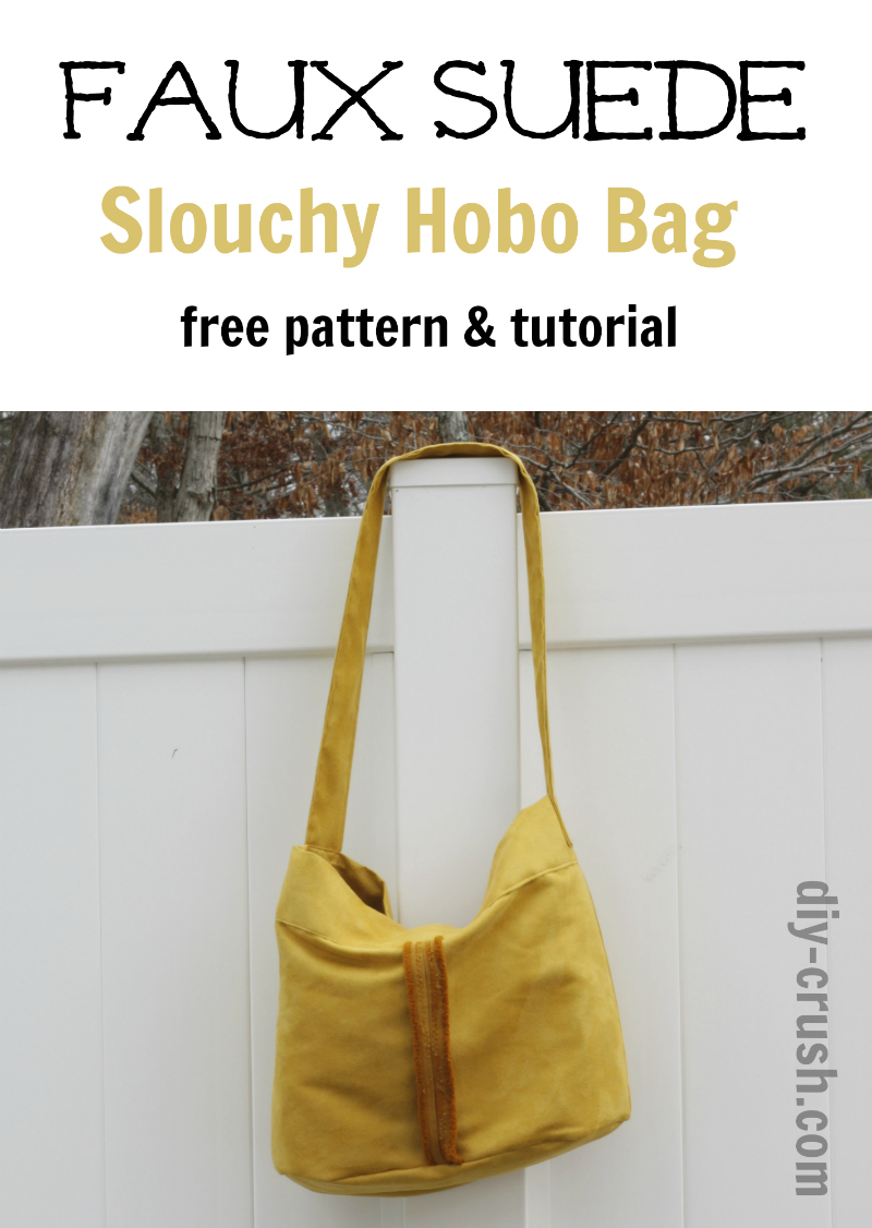 Hobo Bag Faux Suede Slouchy Hobo Bag Pattern