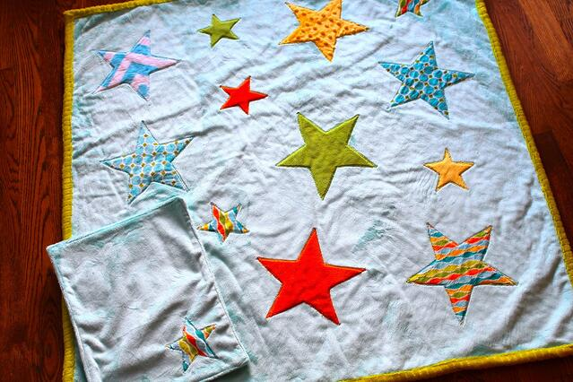 Cuddle Starfall Quilt and Lovey