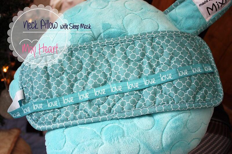 Mixi Heart's Quilted Cuddle Travel Set