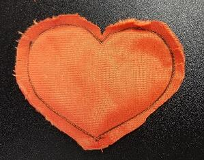 Cuddle minky applique heart