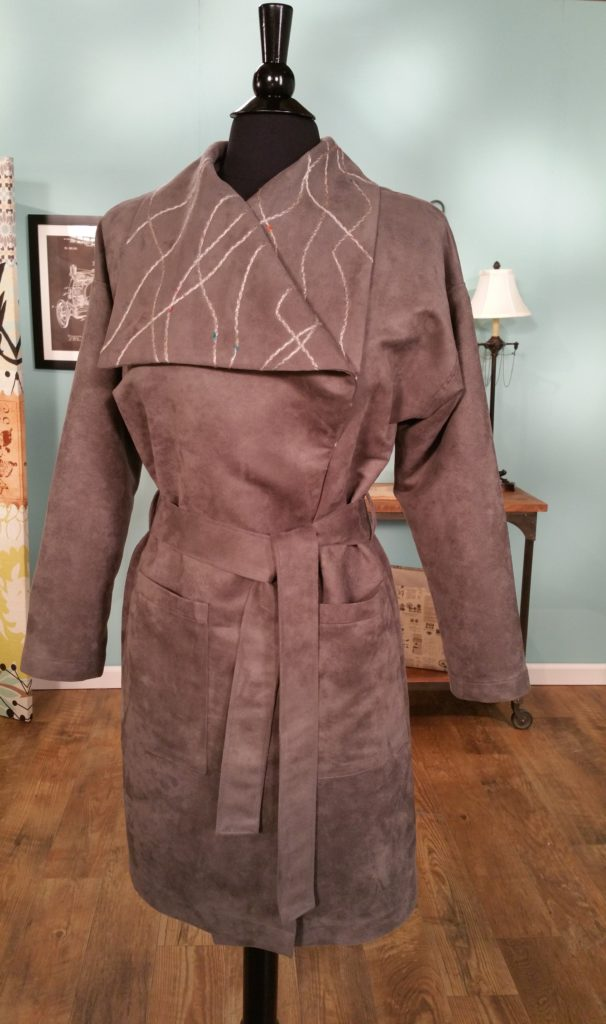 Joanne Banko Couched Collar Cuddle Suede Coat sewing tutorial as seen on It's Sew Easy TV