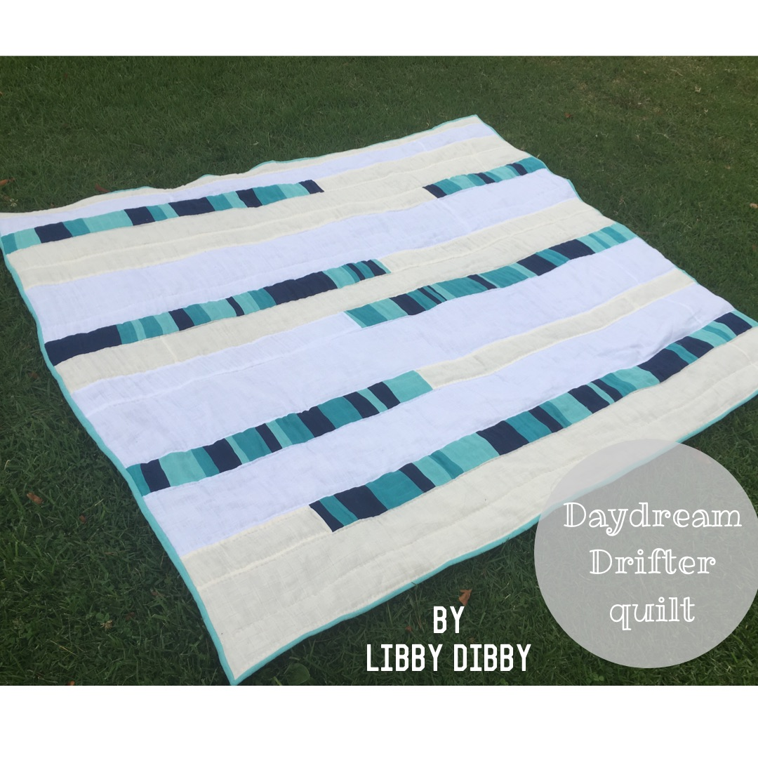 Daydream Drifter Free Quilt Pattern b y Libby Dibby in Embrace double gauze