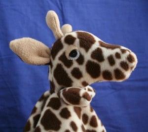 GiraffeLoveyBlanket
