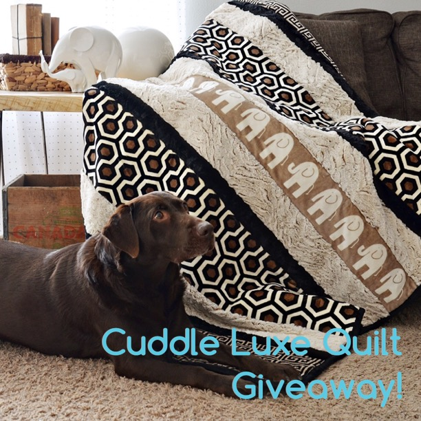 Cuddle Luxe Quilt Giveaway