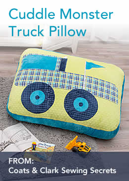 Cuddle Monster Truck Pillow Sewing Tutorial with Coats
