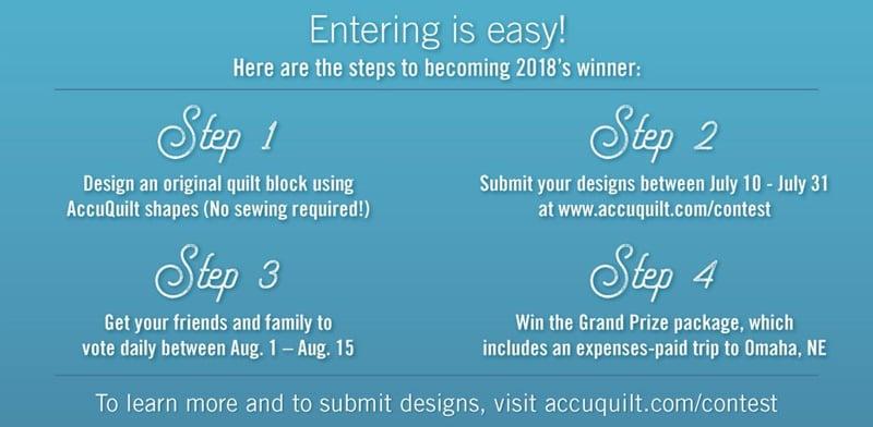 Quilt Block Design Contest Entry Steps