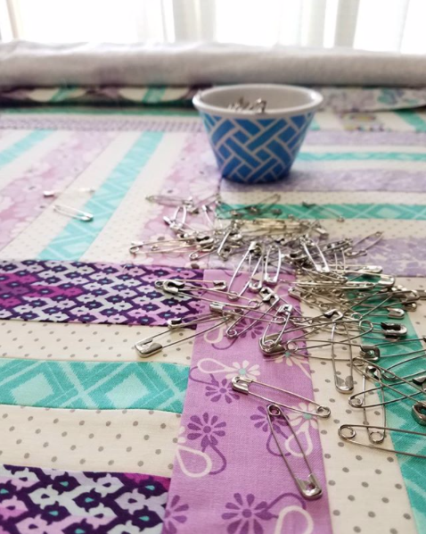 Quilting On Cuddle Fabric Basting